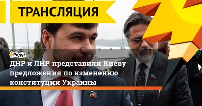 Днр и лнр представили предложения по изменению конституции украины