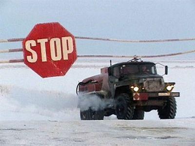 Ямал: переправа через обь может закрыться, а на реке надым в лёд вмораживают понтоны