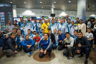 Казахстанские боксёры отправились на олимпиаду в рио
