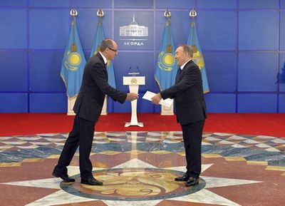 Н.назарбаев принял верительные грамоты послов ряда стран