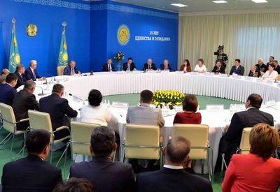 Н.назарбаев встретился с общественностью северо-казахстанской области