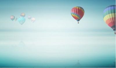 На больших воздушных шарах