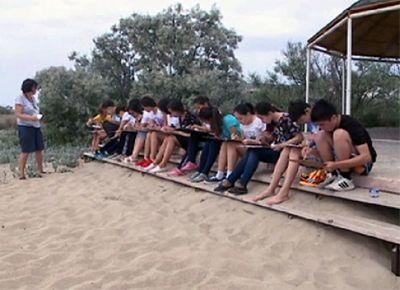 На каспии открылась летняя школа