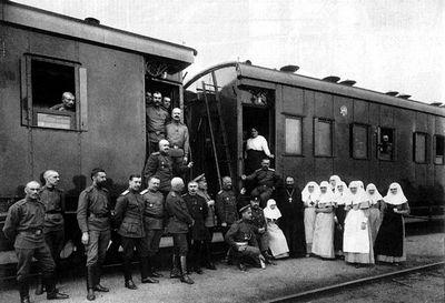 На санитарном поезде через всю европу