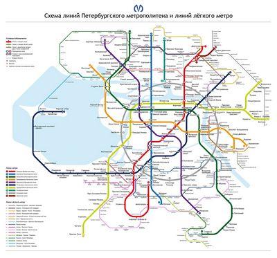 Петербургское метро: впереди сиреневая ветка