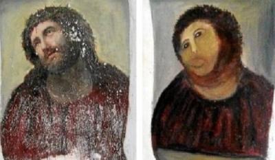 "Прихожанка ""дорисовала"" фреску"
