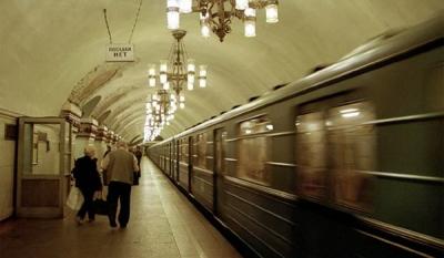 Реклама на полу в метро