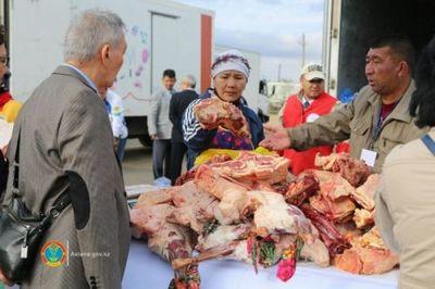 Сельхозярмарки западно-казахстанской и атырауской областей проходят в столице