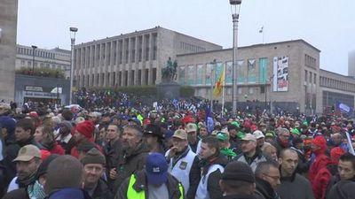 В брюсселе состоялась акция протеста военных