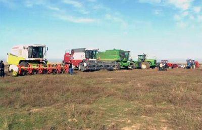 В одном из районов зко собрали рекордный урожай